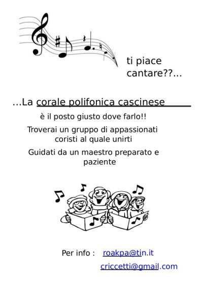 Cantare insieme